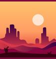 evening desert landscape background natural vector image vector image