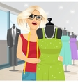 fashion designer draping a mannequin with a gown vector image