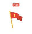 flag icon the banner sign vector image vector image