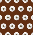 Flat background for coffee cup vector image vector image
