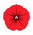 flat color petals icon vector image vector image