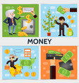 flat finance square concept vector image