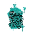 Font graffiti grunge and cans vector image vector image