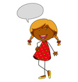 Girl talking vector image vector image