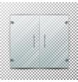 glass door transparent realistic store vector image
