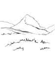 hand drawn mountains sketch vector image vector image