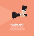 Hand Holding A Flashlight vector image vector image