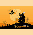 happy halloween lettering for party invitation vector image