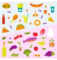 Healthy food and fast vector image vector image