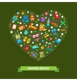 heart composition with modern flat vector image vector image