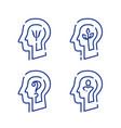 human head profile and psychology symbol vector image vector image