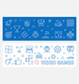 i love video games outline banners game vector image vector image
