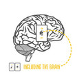 including brain vector image vector image
