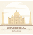 India landmarks Retro styled image vector image