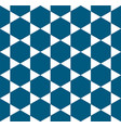 indigo blue white star pattern seamless vector image vector image