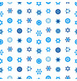 jewish stars set seamless pattern star david vector image