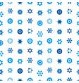 jewish stars set seamless pattern star of david vector image