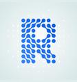 letter r logo halftone icon vector image vector image