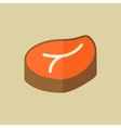 Meat Food Flat Icon vector image vector image