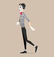 Mime performance - sliding vector image vector image