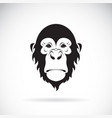 monkey face design on white background wild vector image vector image