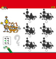 monsters educational shadow game vector image vector image
