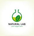 natur lab logo vector image vector image