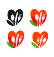 natural organic food logo healthy nutrition vector image vector image