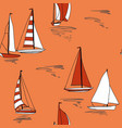 nautical sail boat print seamless pattern vector image