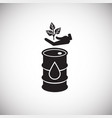 oil polluted ecology on white background vector image