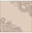 ornamental vintage floral background vector image vector image