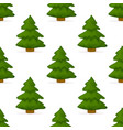 pine tree forest seamless pattern background vector image