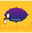 ramadan kareem greeting design with text space vector image vector image