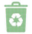 recycle bin halftone icon vector image vector image