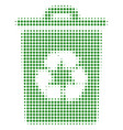 recycle bin halftone icon vector image