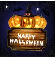 scary jack o lantern halloween pumpkins vector image