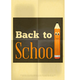 school poster pencil vector image vector image