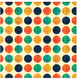 seamless abstract polka dots pattern vector image vector image