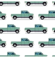 Seamless pattern of green pickup truck