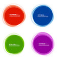 set colorful circular banners vector image vector image