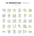 set line icons saint patricks day vector image vector image