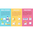 Set of banners with dental information vector image