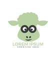 sheep logo design vector image