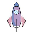skyrocket isolated icon vector image vector image