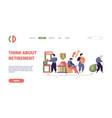 social payments landing bank deposit safe vector image vector image
