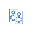 speakers line icon concept speakers flat vector image vector image