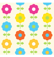 Spring flower seamless pattern design vector image