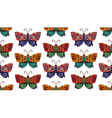 Steampunk butterfly seamless pattern vector image vector image