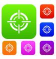 target set collection vector image vector image