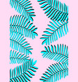 tropical palm leaves vertical banner exotic vector image vector image